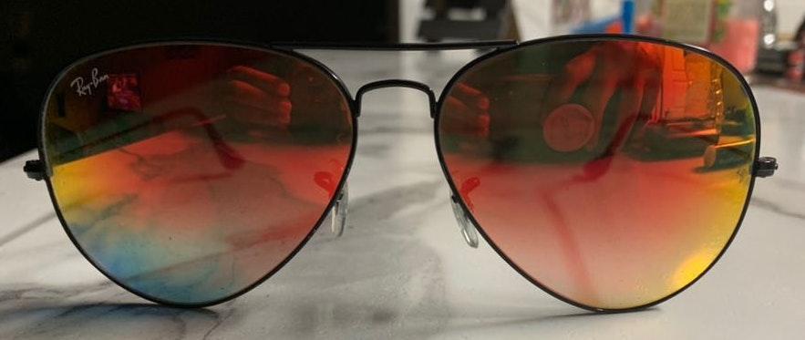 Ray-Ban aviator sunglasses from Dillard's.