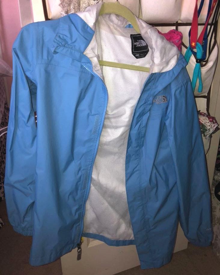 The North Face Blue Rain Jacket