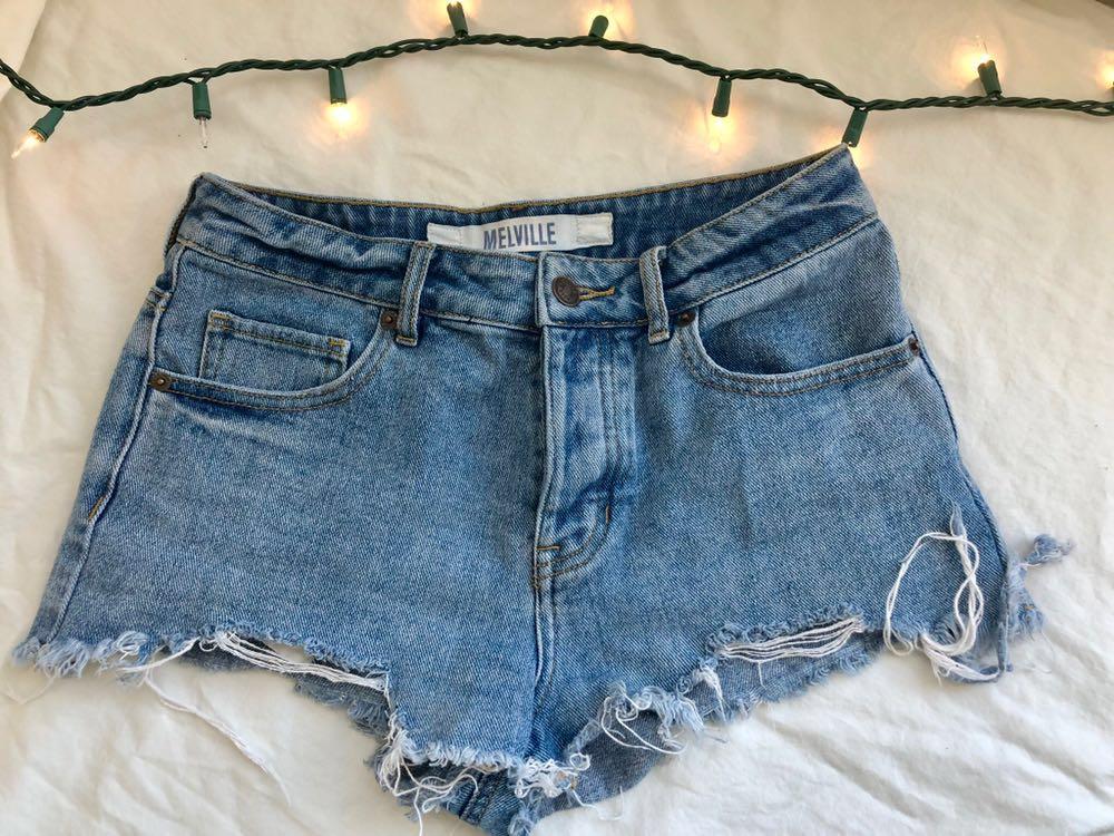 Brandy Melville Ripped jean shorts