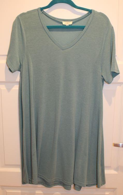 Umgee Teal T-Shirt Dress