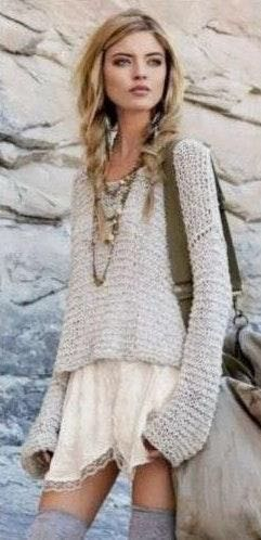 Free People Deep V Sweater