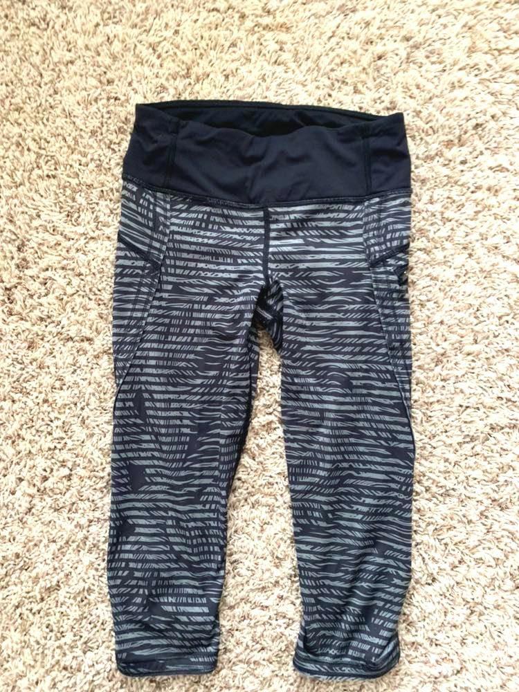 6d599c346a061 Lululemon Grey and Black Lulu Cropped leggings | Curtsy