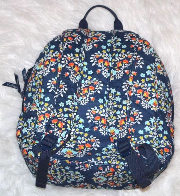 Vera Bradley Navy Floral Backpack