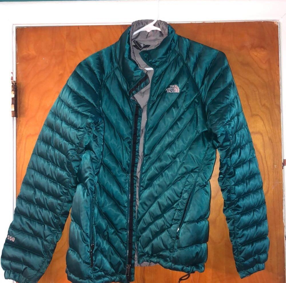 037ed059b The North Face Teal Puffer Jacket