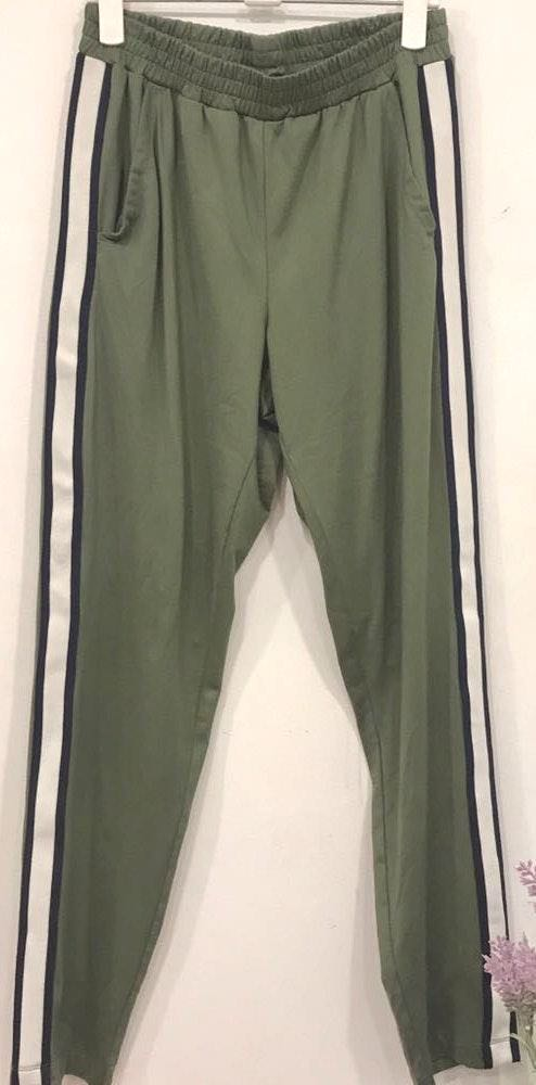 Aerie Olive Green Striped Track Pants