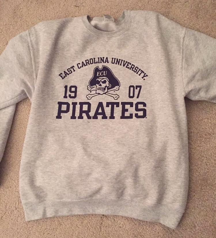 ecu grey sweatshirt