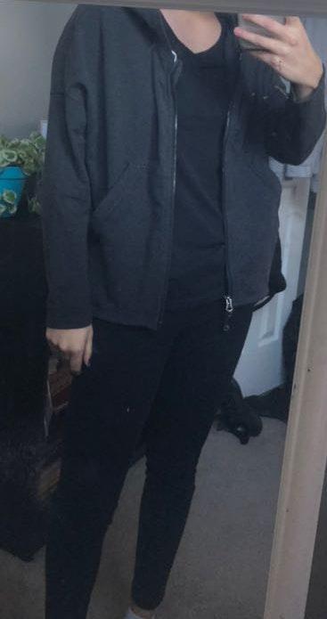 Lululemon Grey Zip Up Jacket with Hood
