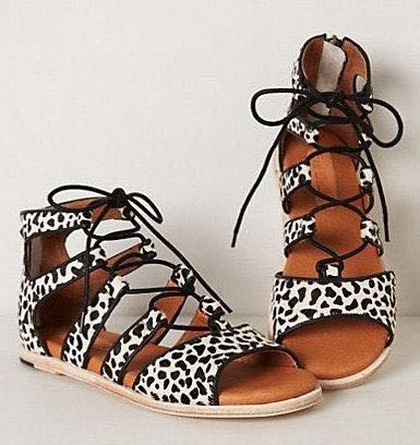 Anthropologie Lace Up Sandals