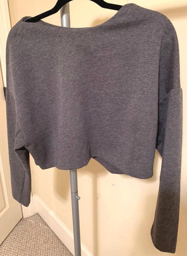 Tobi Grey Cropped Sweater