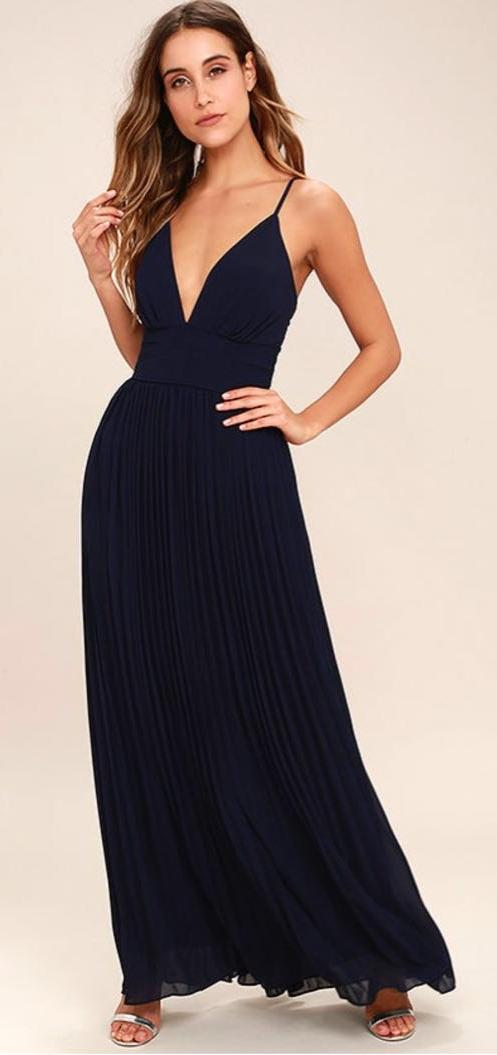 Lulus Lulu's Navy Blue Formal Dress