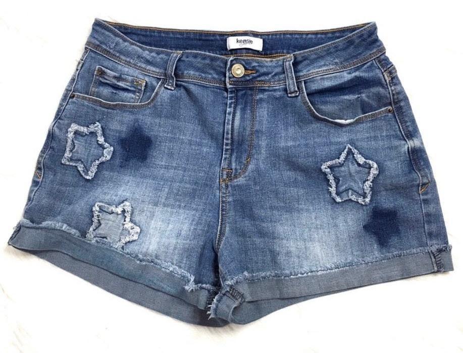 Kensie Star Jean Shorts