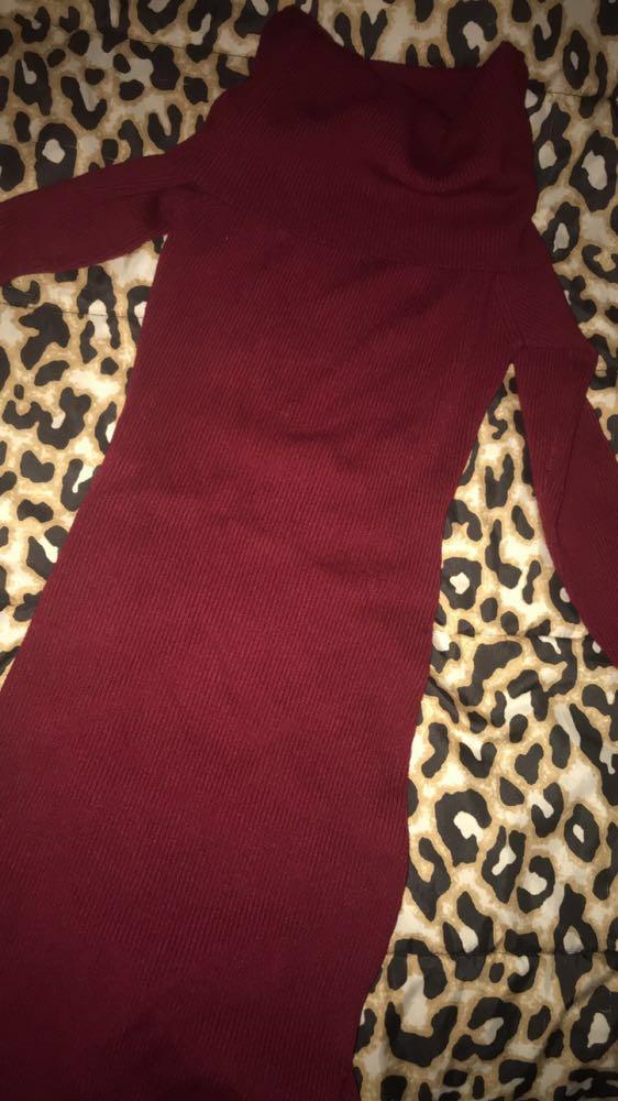 Olivaceous Longsleeve Turtleneck Dress