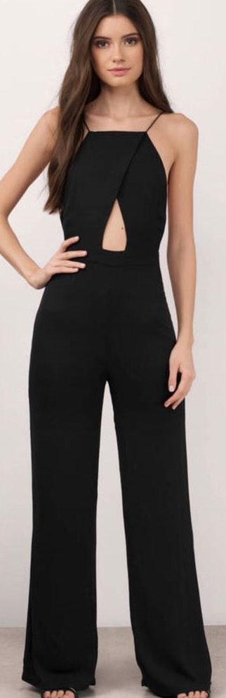 Tobi Keyhole Black Jumpsuit