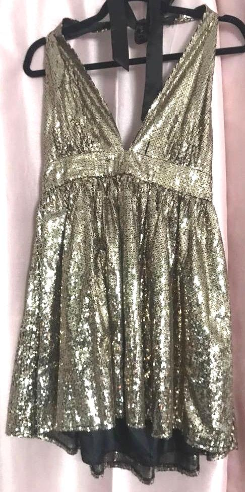 DO+BE Gold Sparkle Informal Dress