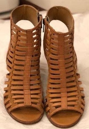 Dolce Vita Caged Heels - Tan