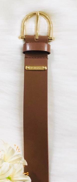 Michael Kors brown / gold leather belt