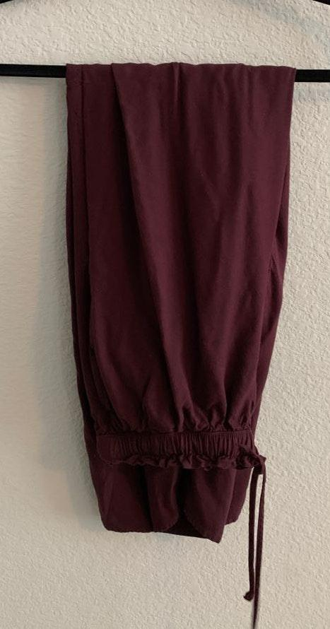 American Eagle Outfitters Maroon Paperbag Pants