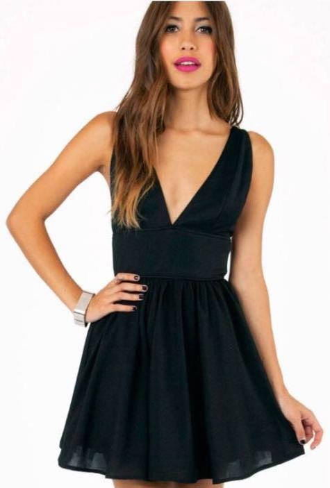 Tobi Black Skater Dress