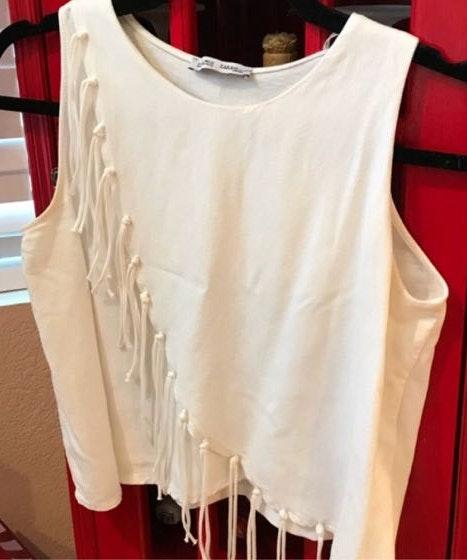 ZARA Fringe Crop Top