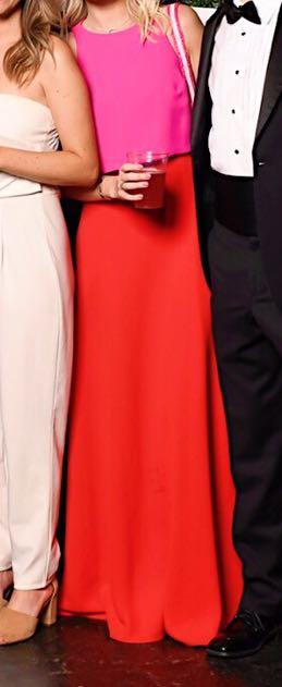 Calvin Klein Pink/ Red Formal Gown