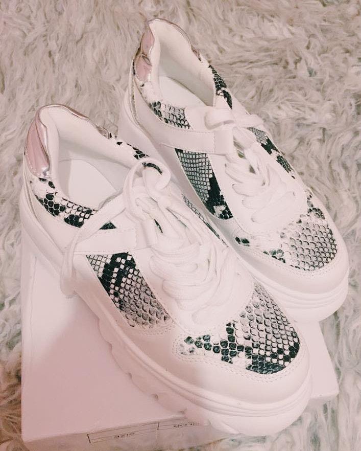 Nasty Gal snakeskin sneakers