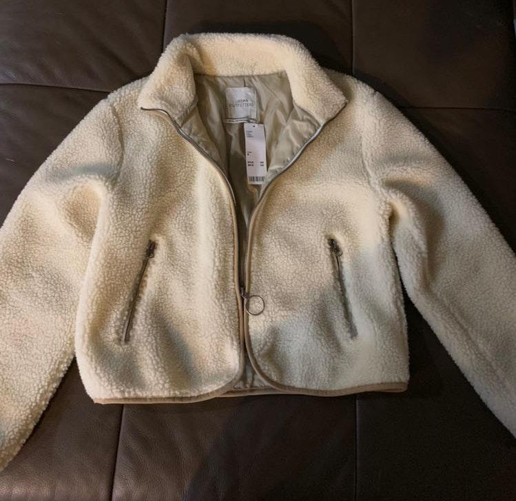 Urban Outfitters White Sherpa