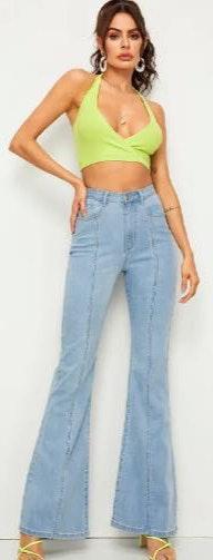 SheIn Light wash Flare Jeans