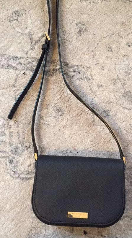 Kate Spade black cross body purse