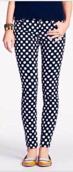 Kate Spade Broome Street Polka Dot Jeans