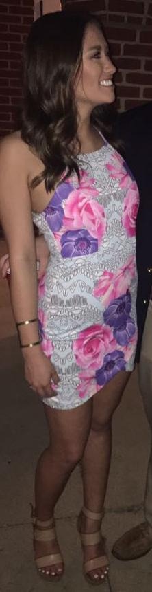 L'ATISTE Bright Floral Bodycon Dress