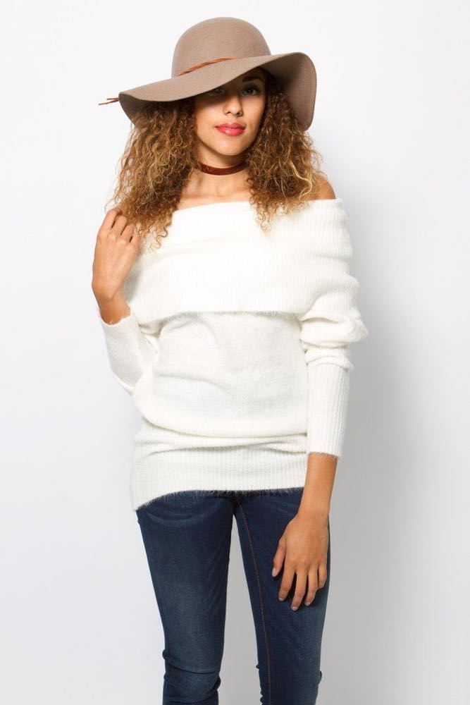 Olivaceous Cream Sweater