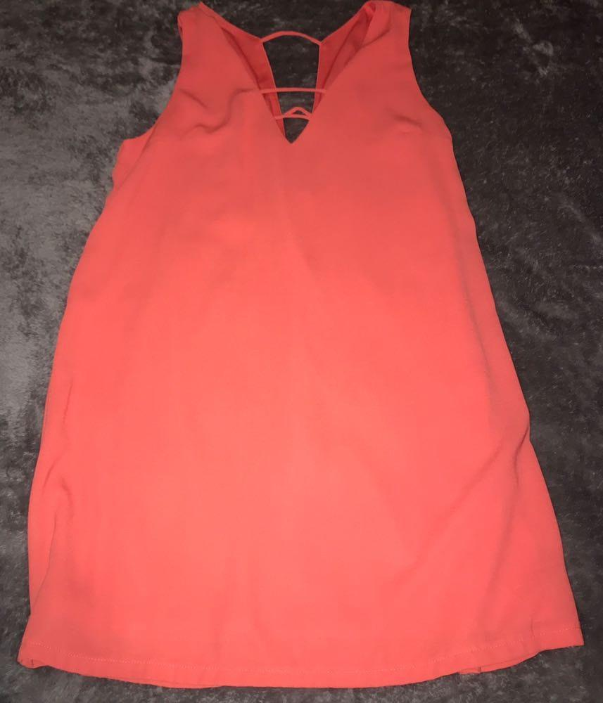 cdc483a3888 Coral Shift Dress