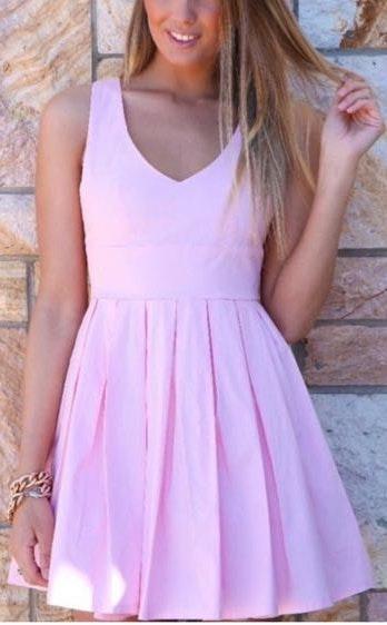 Xenia Light pink bow dress
