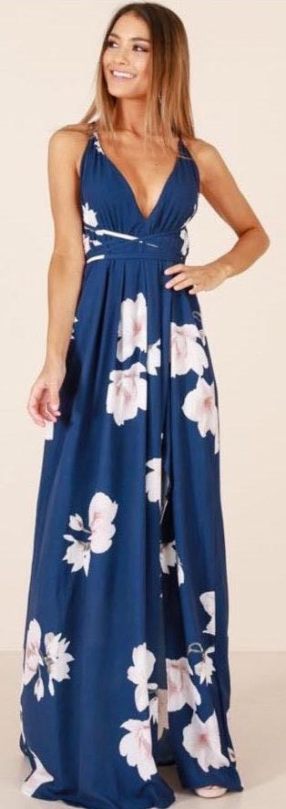 Showpo Navy Maxi Dress