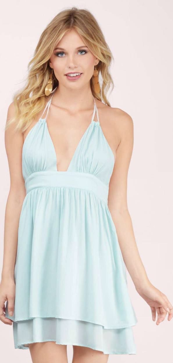 Tobi  Light Blue Halter Dress
