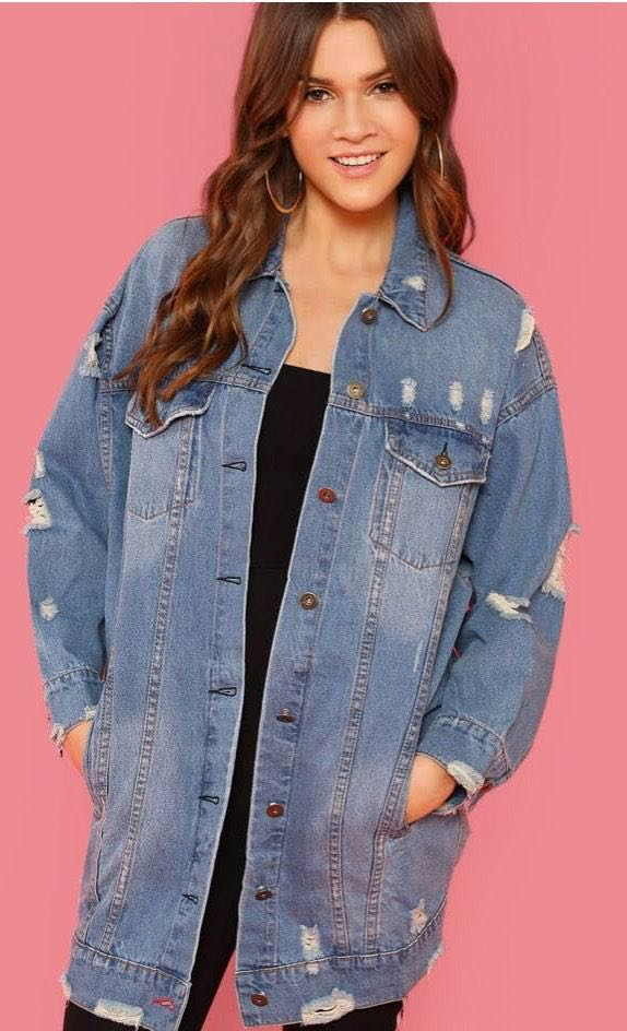 Brand New Long Denim Jacket
