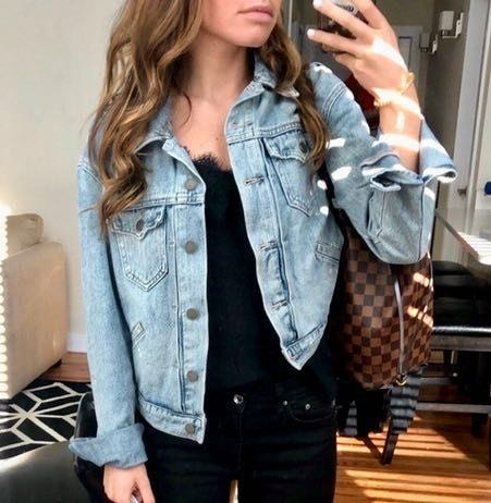 Distressed Jean Denim Jacket