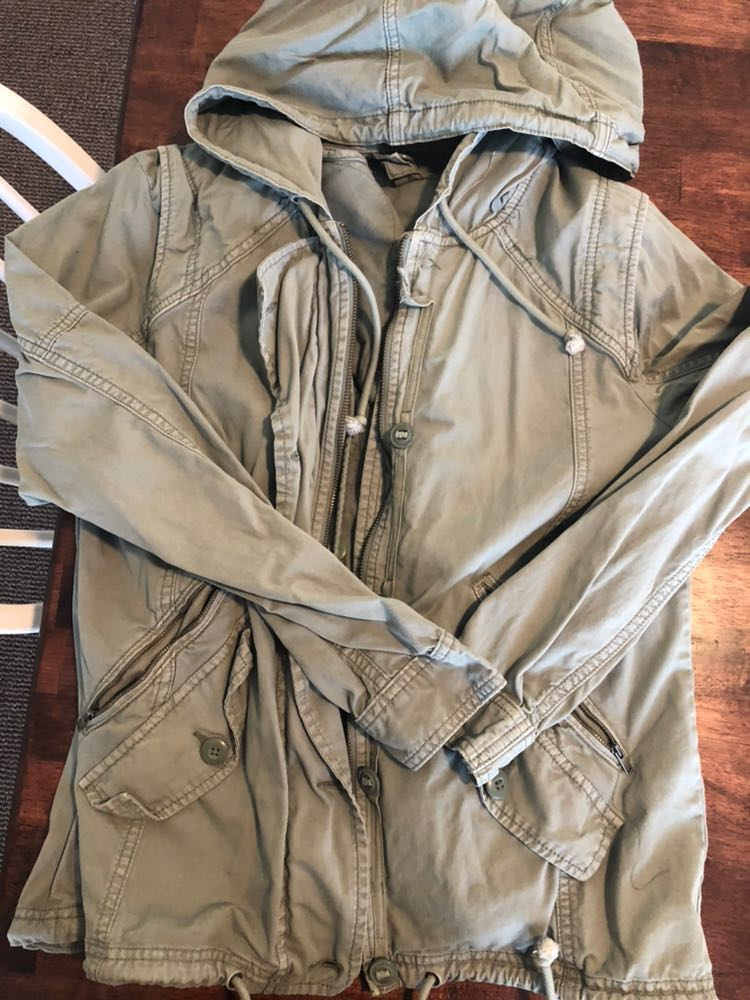 American Eagle Outfitters Cute Light Army Jean Jacket