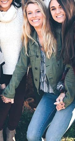 Free People Army Green Denim Jacket