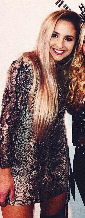 Revolve Snakeskin Dress