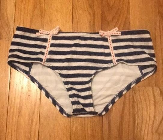 Betsey Johnson Striped Bikini Bottoms