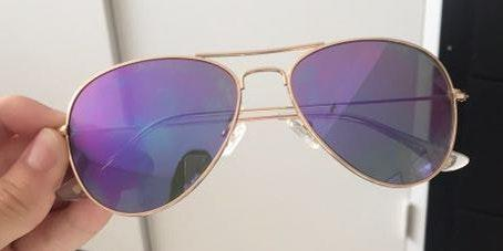 DIFF eyewear Purple Cruz Aviators