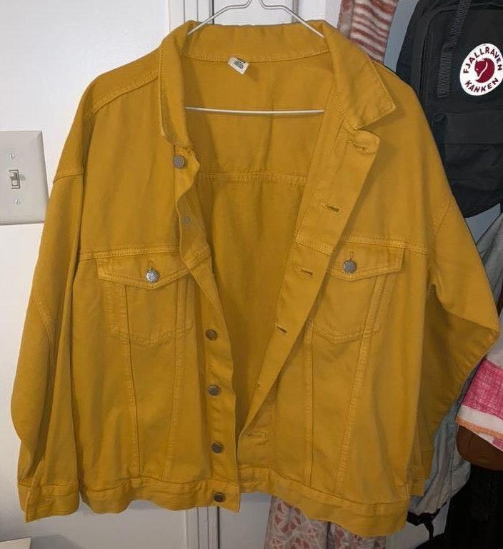 H&M Yellow Denim Jacket