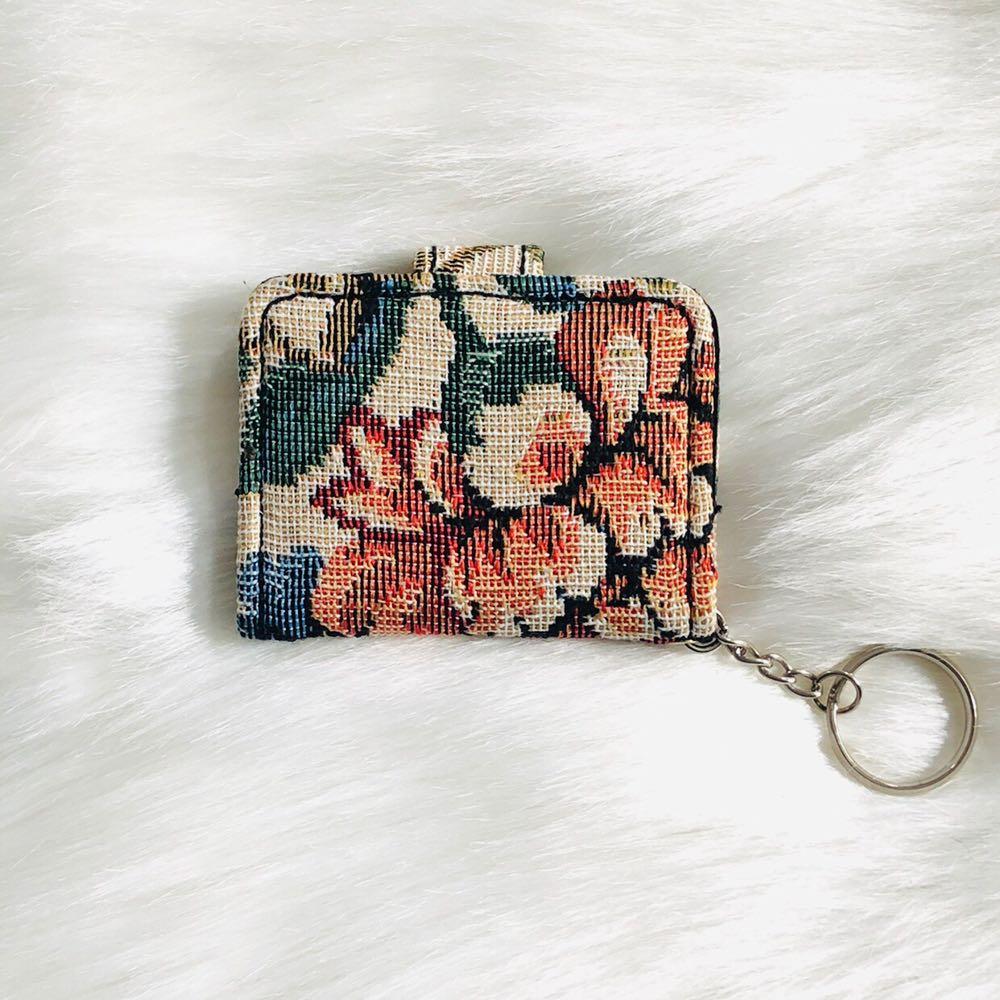 Vintage mini Floral keychain