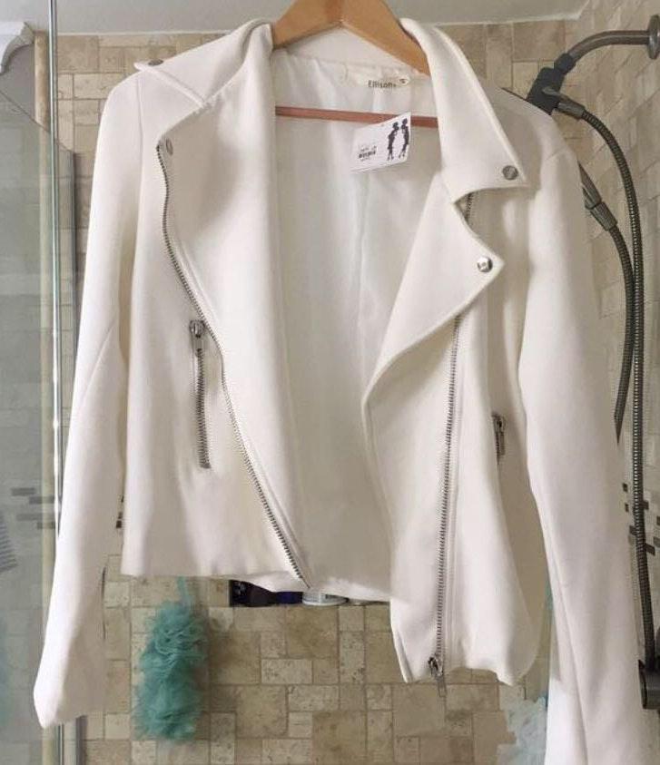 Ellison White leather jacket