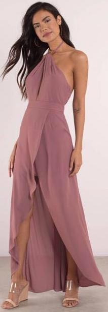 Tobi Mauve Halter Formal Dress
