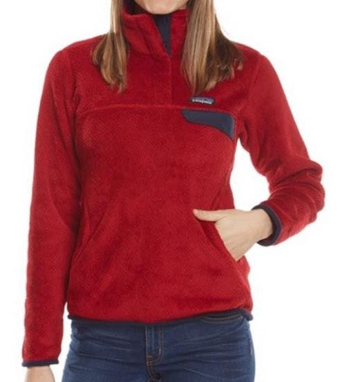 Patagonia Red Fleece Pullover
