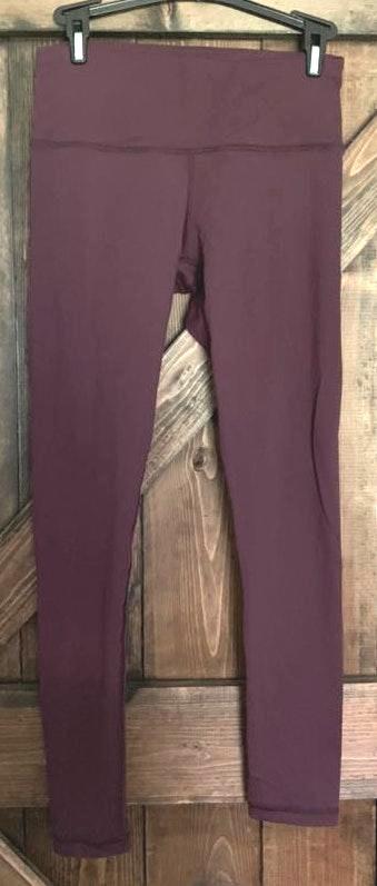 90 Degrees by Reflex Dark Purple Workout Leggings