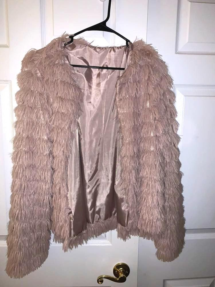 Amazon Tan faux fur jacket
