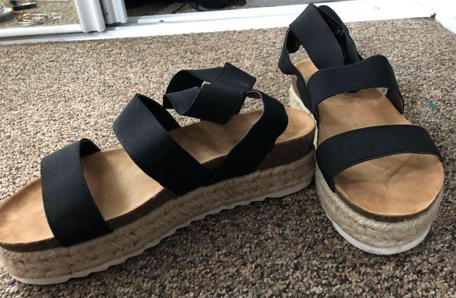 Natural breeze platform sandals